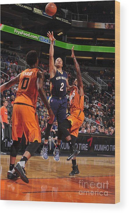 Nba Pro Basketball Wood Print featuring the photograph Tim Frazier by Barry Gossage