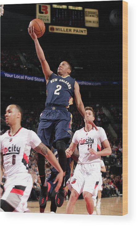 Nba Pro Basketball Wood Print featuring the photograph Tim Frazier by Cameron Browne