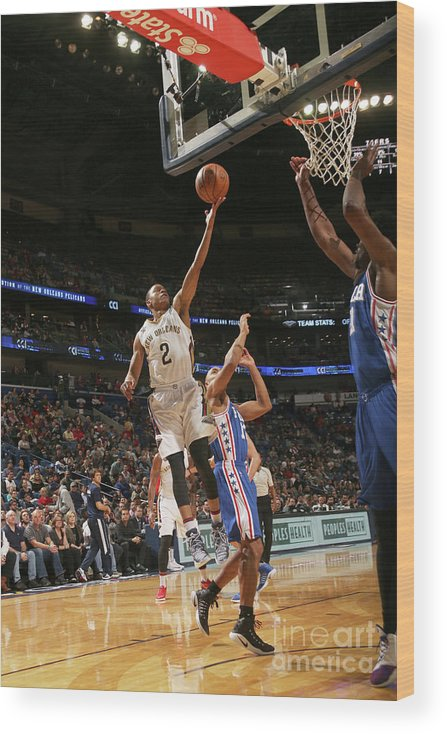 Smoothie King Center Wood Print featuring the photograph Tim Frazier by Layne Murdoch