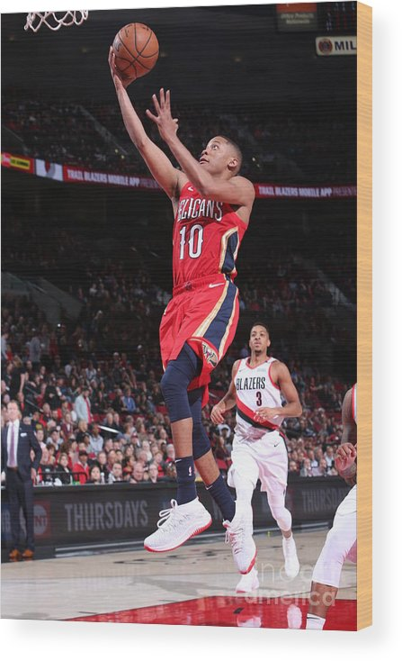 Nba Pro Basketball Wood Print featuring the photograph Tim Frazier by Sam Forencich