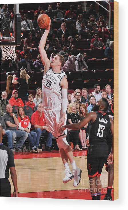 Nba Pro Basketball Wood Print featuring the photograph Timofey Mozgov by Bill Baptist