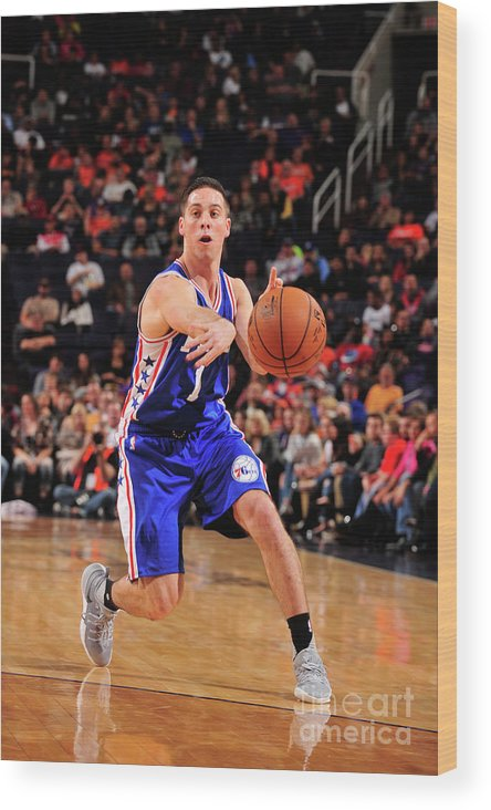 Nba Pro Basketball Wood Print featuring the photograph T.j. Mcconnell by Barry Gossage