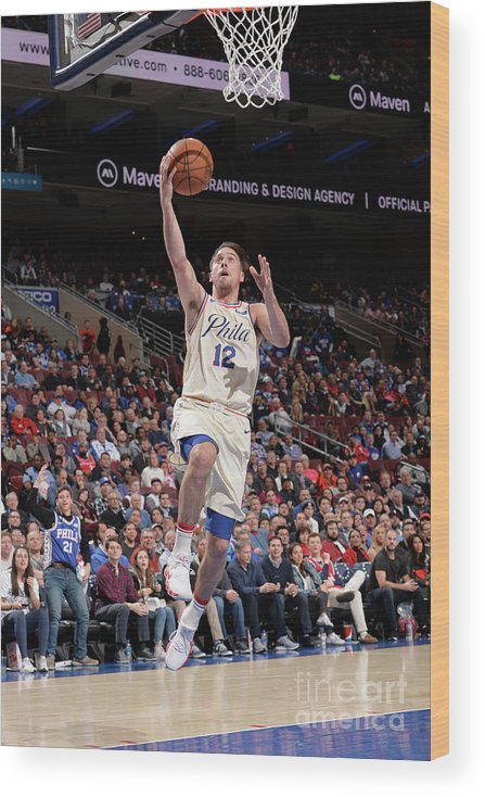 Sports Ball Wood Print featuring the photograph T.j. Mcconnell by David Dow