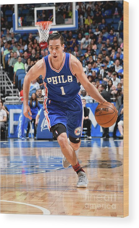Nba Pro Basketball Wood Print featuring the photograph T.j. Mcconnell by Fernando Medina