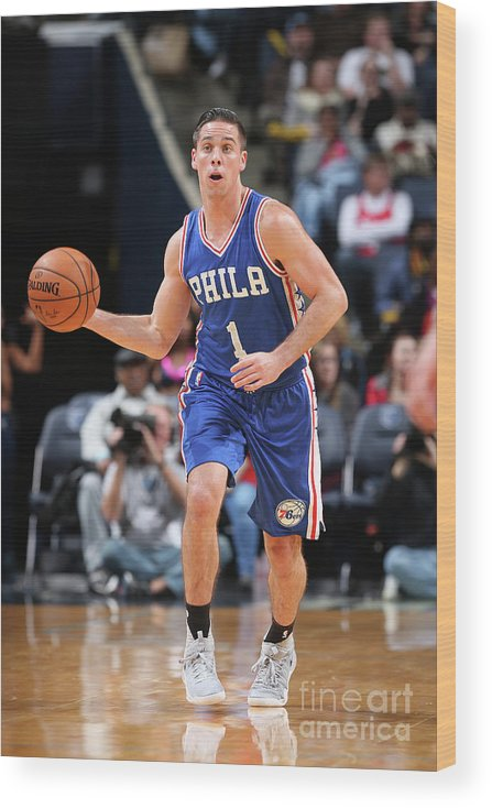 Nba Pro Basketball Wood Print featuring the photograph T.j. Mcconnell by Joe Murphy