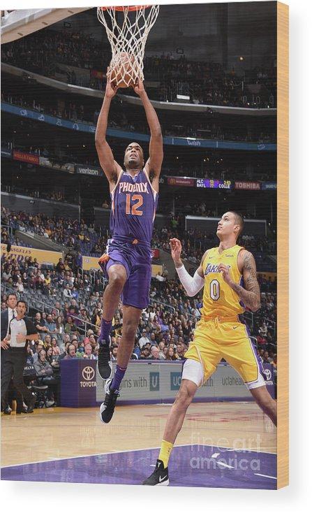 Nba Pro Basketball Wood Print featuring the photograph T.j. Warren by Andrew D. Bernstein