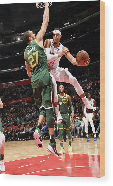 Nba Pro Basketball Wood Print featuring the photograph Tobias Harris by Andrew D. Bernstein