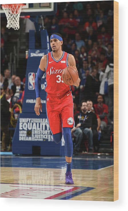 Nba Pro Basketball Wood Print featuring the photograph Tobias Harris by David Dow