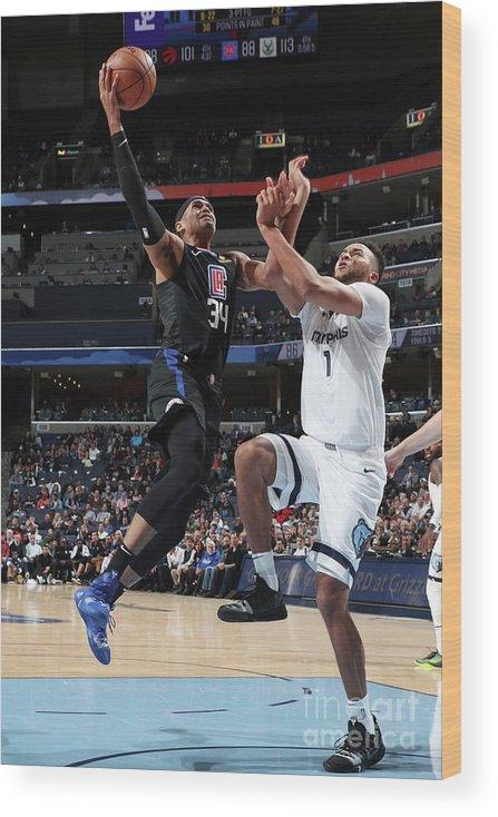 Nba Pro Basketball Wood Print featuring the photograph Tobias Harris by Joe Murphy