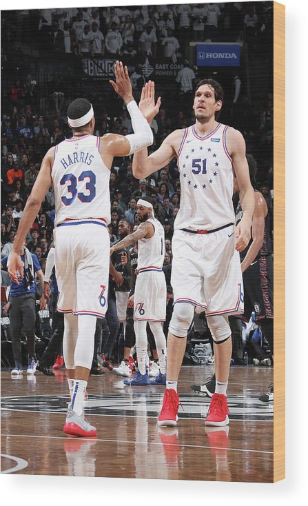 Playoffs Wood Print featuring the photograph Tobias Harris by Nathaniel S. Butler