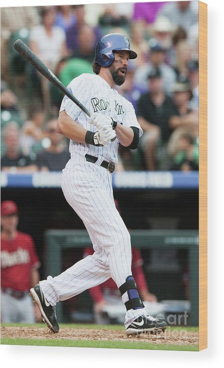Todd Helton Wood Print featuring the photograph Todd Helton by Dustin Bradford