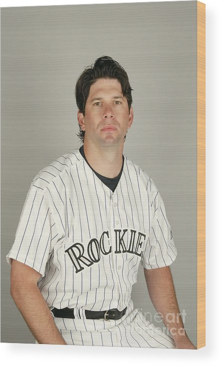 Media Day Wood Print featuring the photograph Todd Helton by Harry How