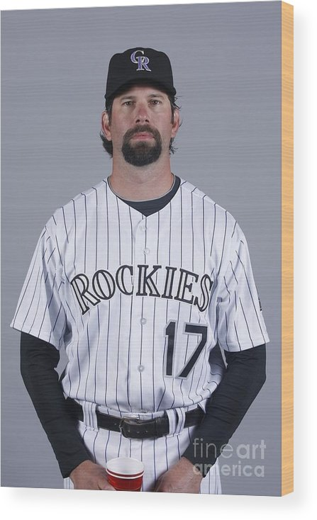 Media Day Wood Print featuring the photograph Todd Helton by Rick Scuteri