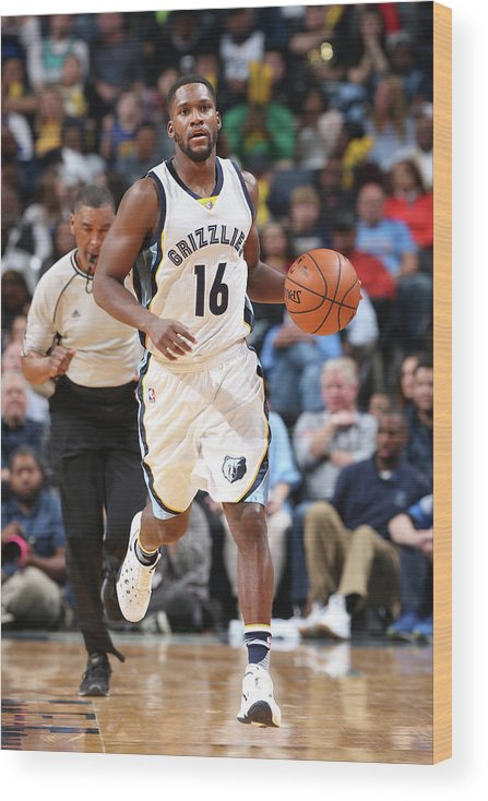 Nba Pro Basketball Wood Print featuring the photograph Toney Douglas by Joe Murphy