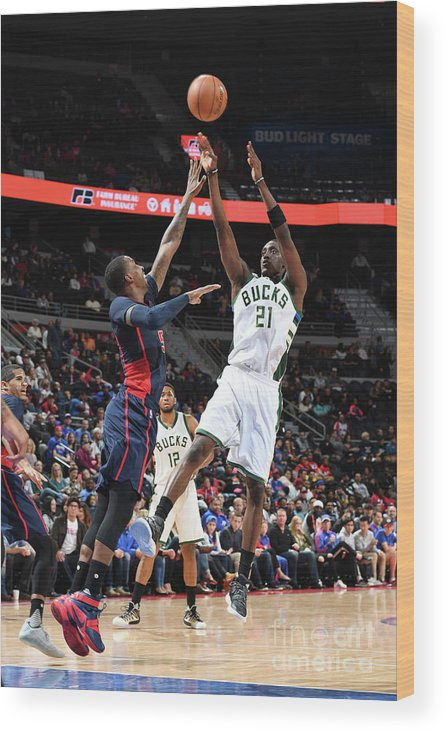 Nba Pro Basketball Wood Print featuring the photograph Tony Snell by Chris Schwegler