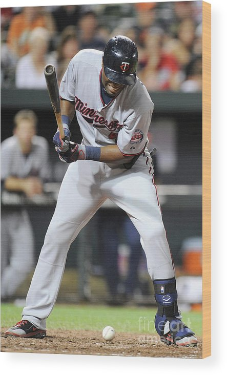 People Wood Print featuring the photograph Torii Hunter by Greg Fiume