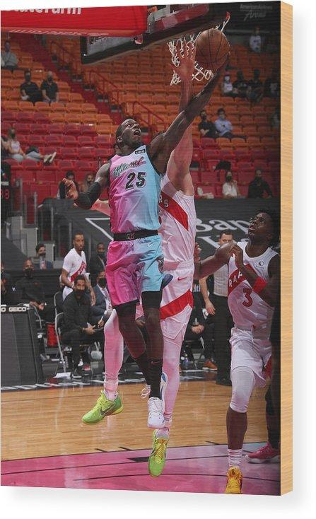 Nba Pro Basketball Wood Print featuring the photograph Toronto Raptors v Miami Heat by Issac Baldizon