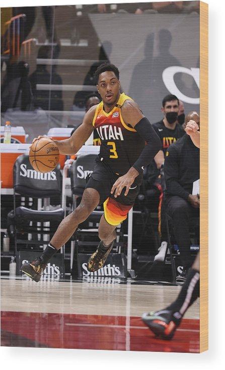 Nba Pro Basketball Wood Print featuring the photograph Toronto Raptors v Utah Jazz by Melissa Majchrzak