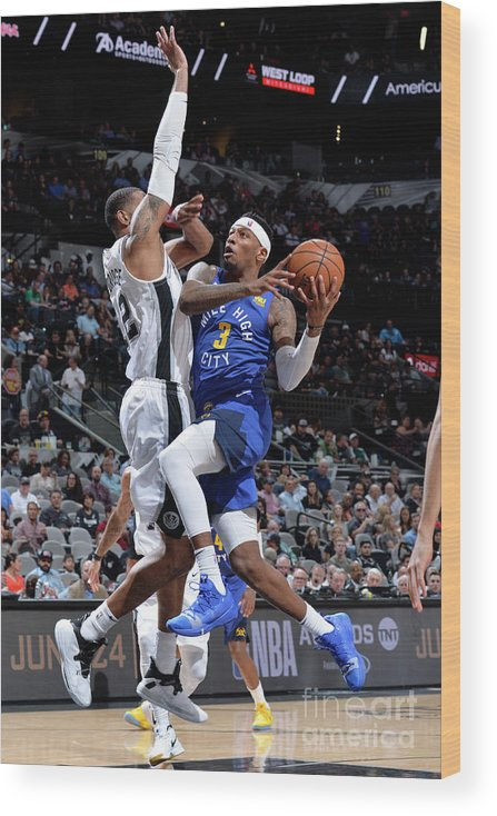 Playoffs Wood Print featuring the photograph Torrey Craig by Mark Sobhani