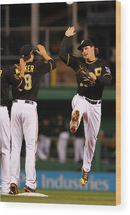 Professional Sport Wood Print featuring the photograph Travis Snider by Justin K. Aller