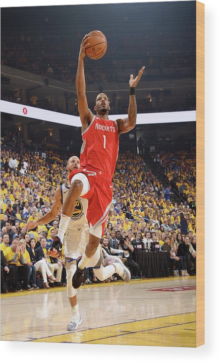 Playoffs Wood Print featuring the photograph Trevor Ariza by Andrew D. Bernstein