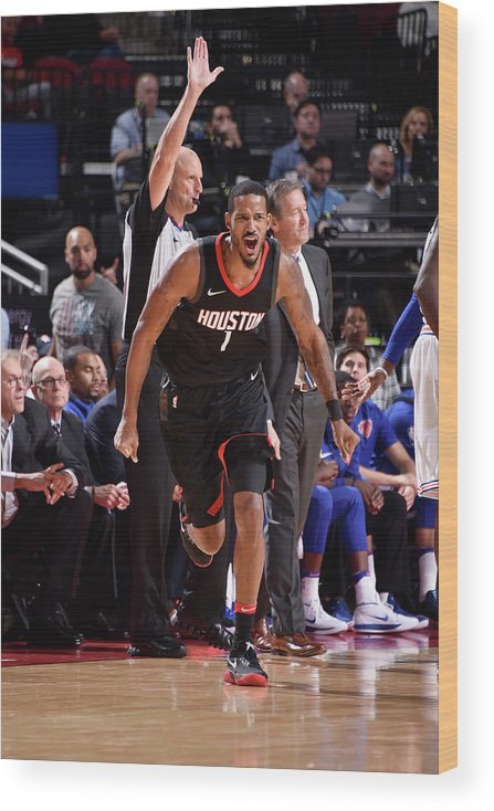 Nba Pro Basketball Wood Print featuring the photograph Trevor Ariza by Bill Baptist