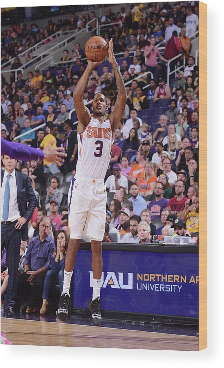 Nba Pro Basketball Wood Print featuring the photograph Trevor Ariza by Michael Gonzales