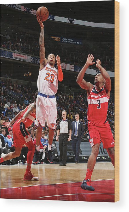 Nba Pro Basketball Wood Print featuring the photograph Trey Burke by Ned Dishman