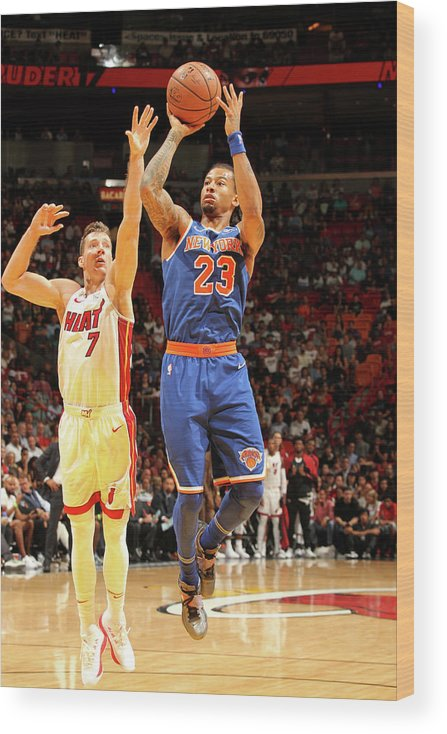 Nba Pro Basketball Wood Print featuring the photograph Trey Burke by Oscar Baldizon