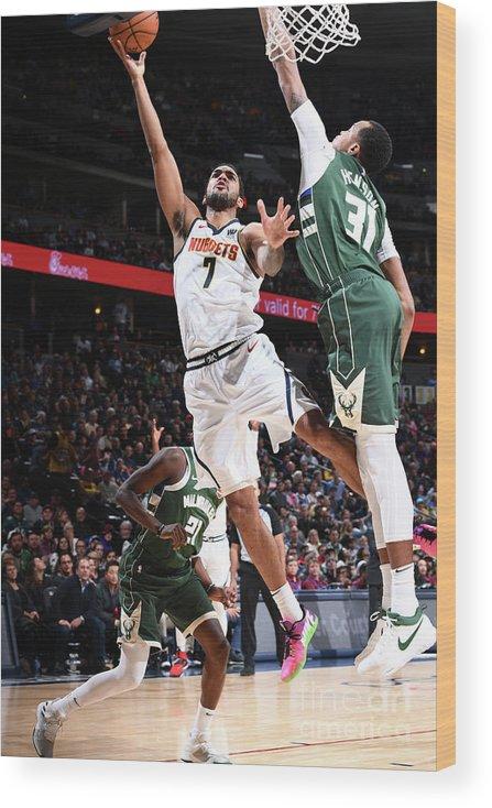 Nba Pro Basketball Wood Print featuring the photograph Trey Lyles by Garrett Ellwood