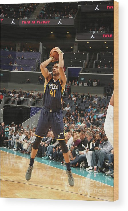Nba Pro Basketball Wood Print featuring the photograph Trey Lyles by Kent Smith