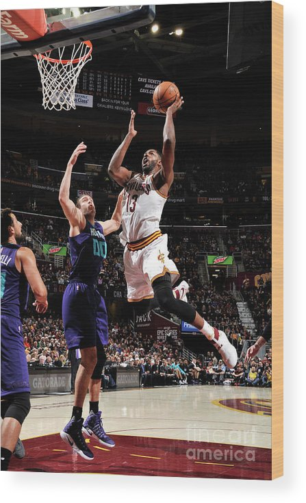 Nba Pro Basketball Wood Print featuring the photograph Tristan Thompson by David Liam Kyle