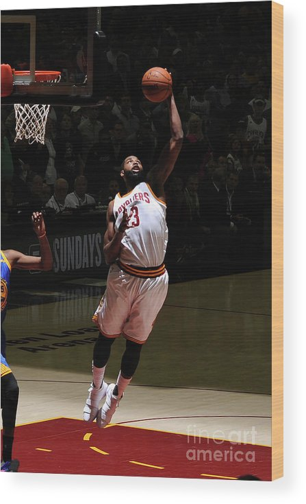 Playoffs Wood Print featuring the photograph Tristan Thompson by Garrett Ellwood