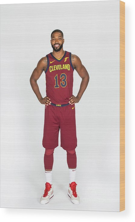 Media Day Wood Print featuring the photograph Tristan Thompson by Michael J. Lebrecht Ii