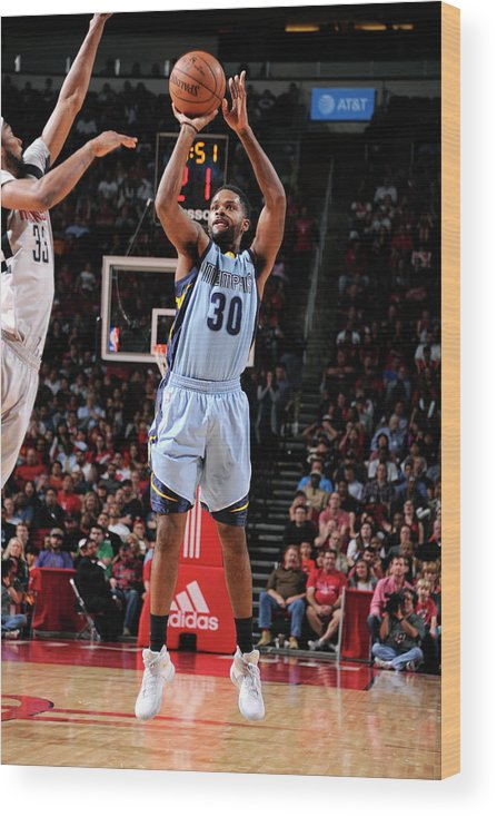 Nba Pro Basketball Wood Print featuring the photograph Troy Daniels by Bill Baptist