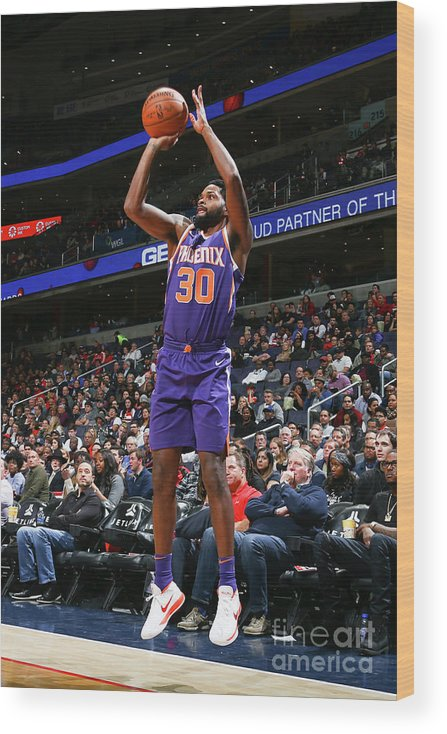 Nba Pro Basketball Wood Print featuring the photograph Troy Daniels by Ned Dishman