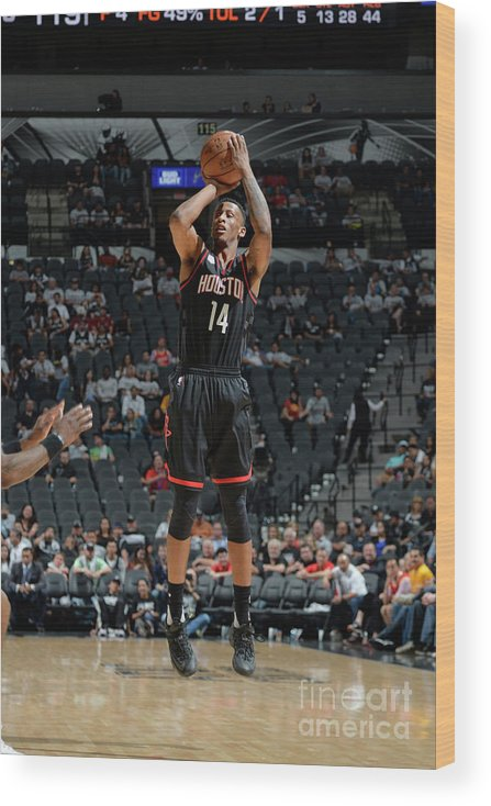 Playoffs Wood Print featuring the photograph Troy Williams by Mark Sobhani