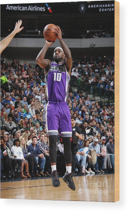 Nba Pro Basketball Wood Print featuring the photograph Ty Lawson by Danny Bollinger