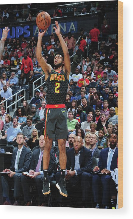 Atlanta Wood Print featuring the photograph Tyler Dorsey by Scott Cunningham