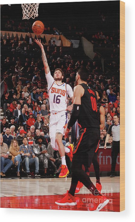 Nba Pro Basketball Wood Print featuring the photograph Tyler Johnson by Cameron Browne