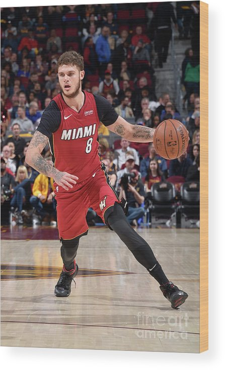 Nba Pro Basketball Wood Print featuring the photograph Tyler Johnson by David Liam Kyle