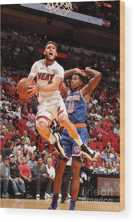 Nba Pro Basketball Wood Print featuring the photograph Tyler Johnson by Issac Baldizon