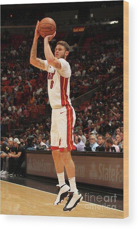 Nba Pro Basketball Wood Print featuring the photograph Tyler Johnson by Oscar Baldizon