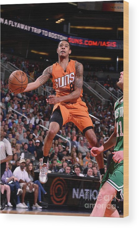 Nba Pro Basketball Wood Print featuring the photograph Tyler Ulis by Barry Gossage