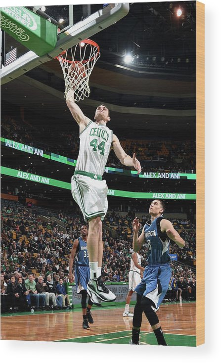 Nba Pro Basketball Wood Print featuring the photograph Tyler Zeller by Brian Babineau