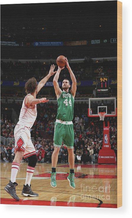 Nba Pro Basketball Wood Print featuring the photograph Tyler Zeller by Gary Dineen