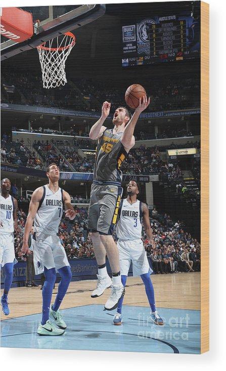Nba Pro Basketball Wood Print featuring the photograph Tyler Zeller by Joe Murphy