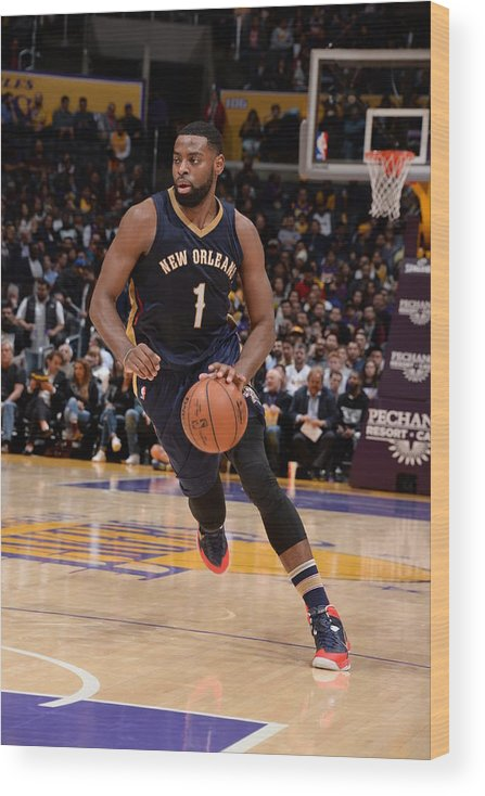 Nba Pro Basketball Wood Print featuring the photograph Tyreke Evans by Andrew D. Bernstein