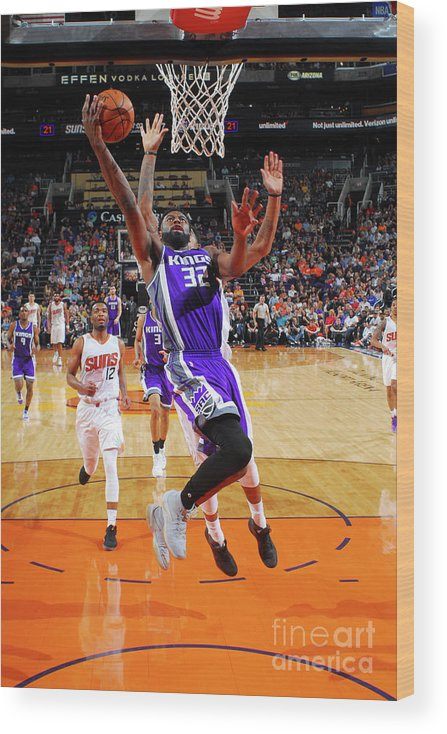 Nba Pro Basketball Wood Print featuring the photograph Tyreke Evans by Barry Gossage