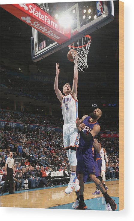 Nba Pro Basketball Wood Print featuring the photograph Tyson Chandler and Domantas Sabonis by Layne Murdoch